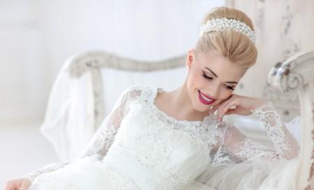 длинные локоны прическа на свадьбу 2015 16