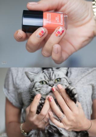 квадратики на ногтях