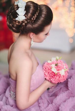 прическа на свадьбу 2015-2