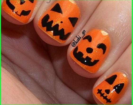 Маникюр хэллоуин своими руками фото