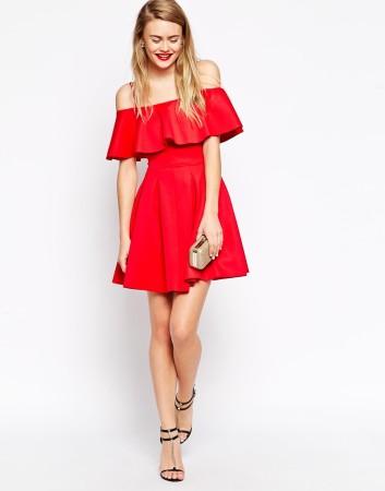 платье воланы