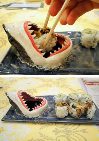 тарелка для ролл в виде акулы